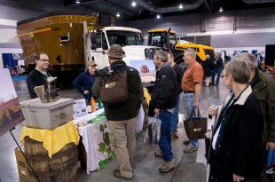 The Rogue Farms booth at the NW Ag Show.