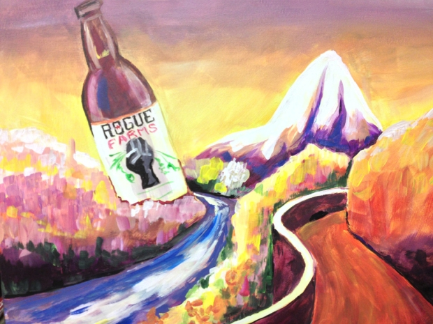 mt. hood, rogue farms, rogue beer, malting barley, oregon, rogue brewery
