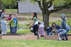 YMCA Kids Planting