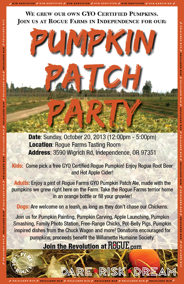 Pumpkin Patch Party Communication (2013)