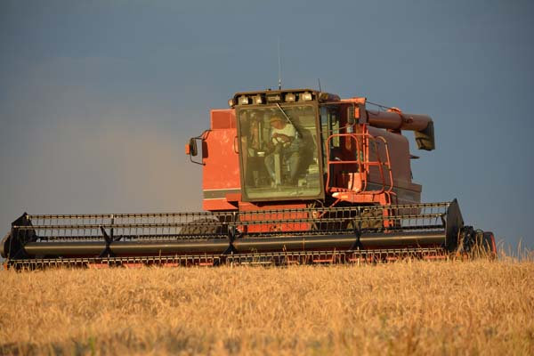 Who knew a combine could look so beautiful?