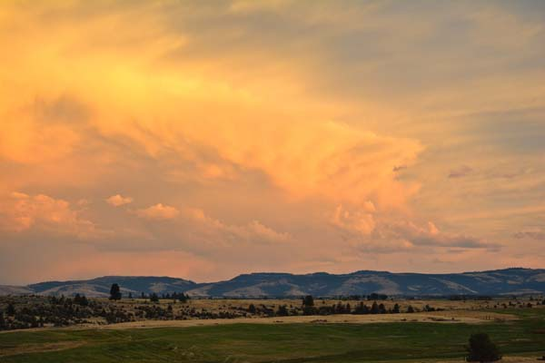 sunset clouds postcard 3 July 2014