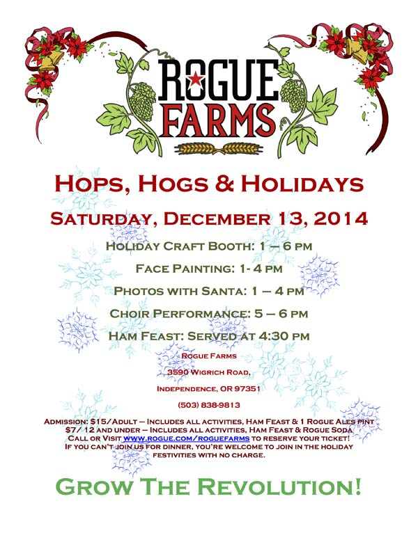 Hops Hogs Holidays Poster