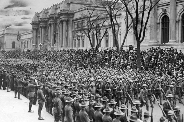 US Troops returning home at the end of WWI in 1919.