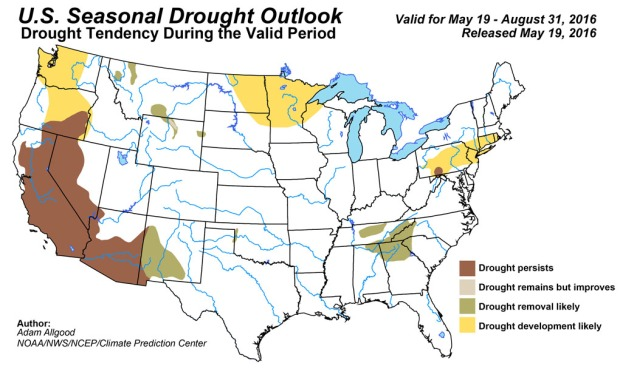 Drought Forecast 5.19.16